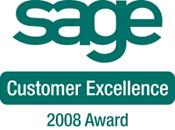 Sage Customer Excellence Award 2008